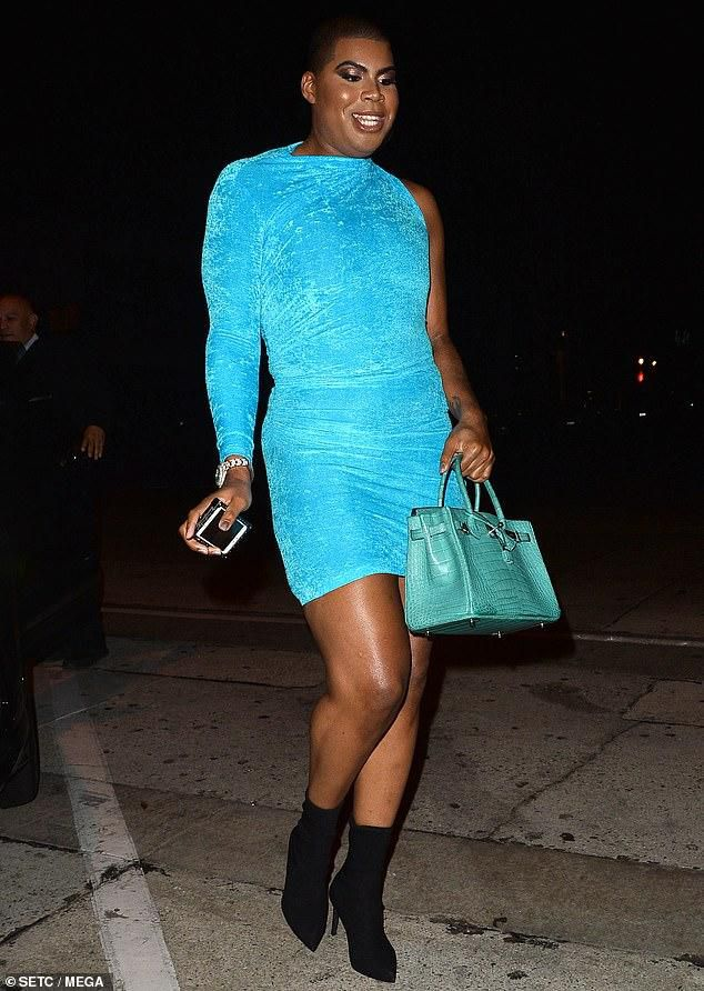 EJ Johnson of Rich Kids of Beverly Hills fame celebrates his 27th birthday in a blue mini dress