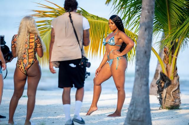 Ashanti shoots new swimsuit campaign for PrettyLittleThing