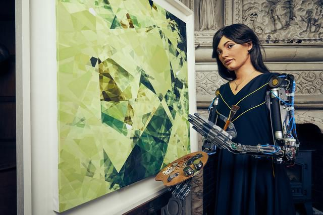 This Robot Artist Just Became the First to Stage a Solo Exhibition. What Does That Say About Creativity?