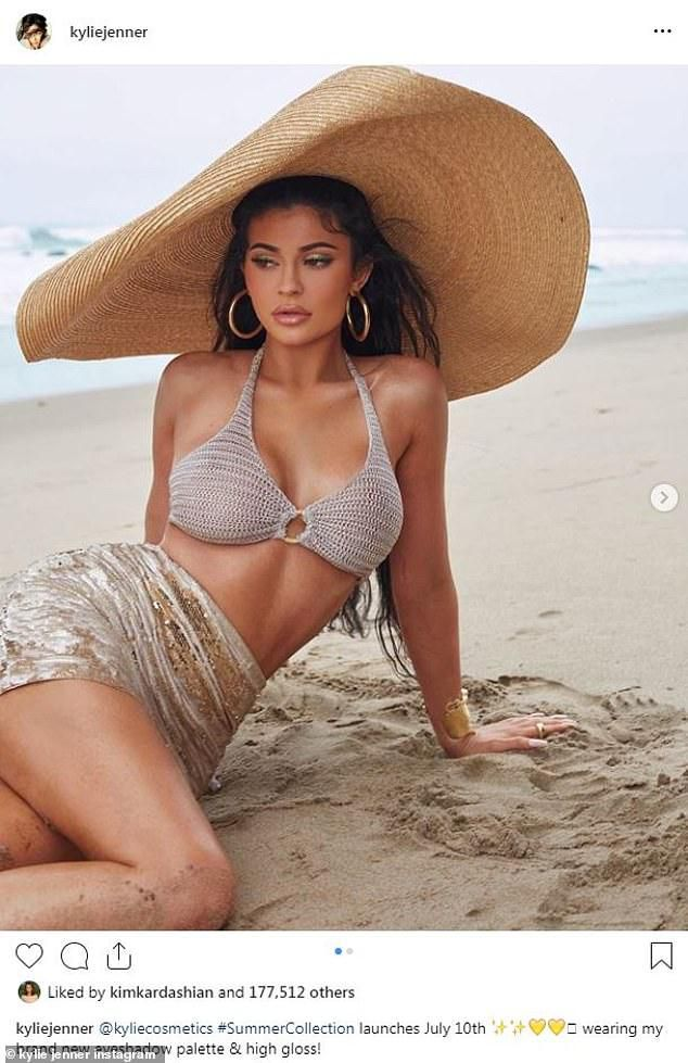 Kylie Jenner the billionaire bombshell poses in bikini to promote new summer collection