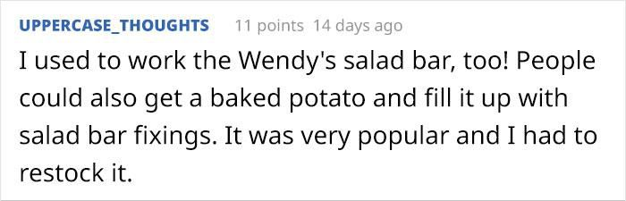Guy Exploits Wendy's All-you-can-eat Buffet By Making A Foot-Tall Cucumber Bowl, Gets Rewarded By A Manager