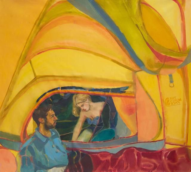Rebecca Harper's expressive paintings are inspired by the feeling of alienation and displacement