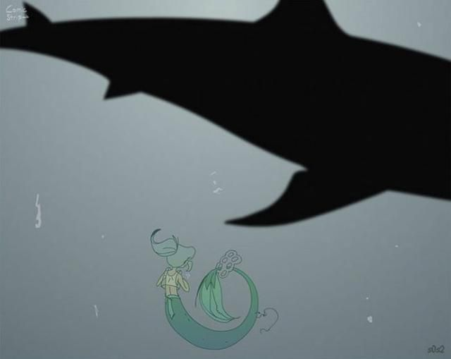 Artist Imagines A Little Mermaid In The 21st Century And It's Disheartening