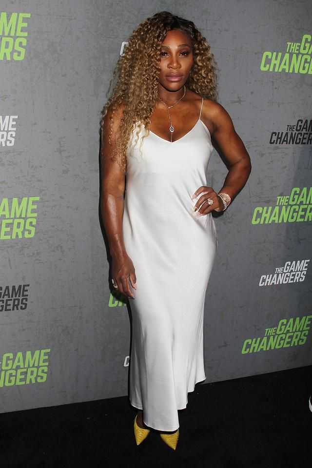 Serena Williams Pops in Yellow Pumps at 'The Game Changers' Screening in NYC