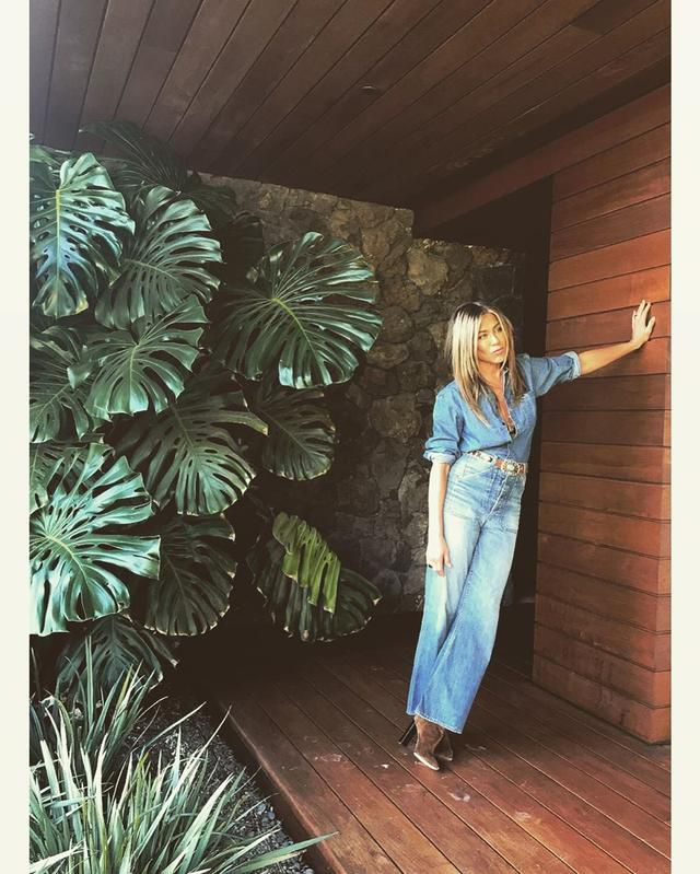 Jennifer Aniston Strikes a Pose in Her $21 Million Bel Air Home She Shared with Justin Theroux