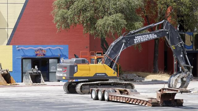 Headed for the landfill: Demolition starts at Plano's Collin Creek Mall