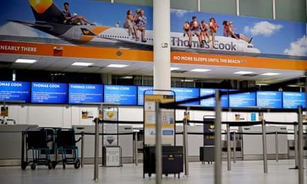'Why did they let us book?': Thomas Cook customers turn up at UK airports
