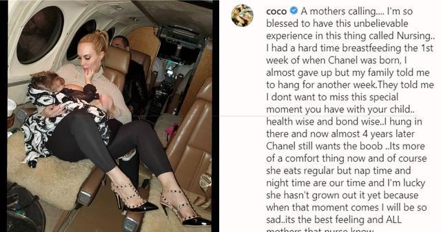 Coco Austin Still Breastfeeds 3-Year-Old Daughter