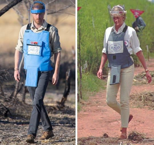 Prince Harry, during royal tour of Africa, recreates unforgettable Princess Diana moment