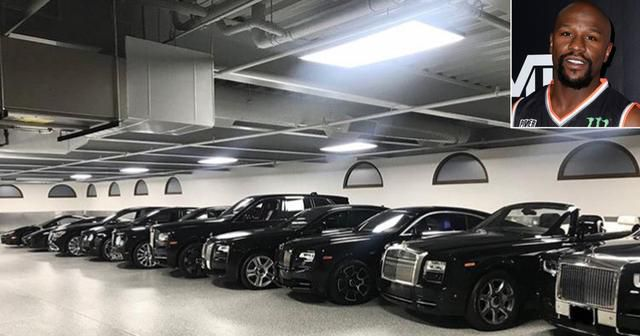 Floyd Mayweather Says His Garage Filled with Luxury Cars Looks Like an 'Indoor Dealership'