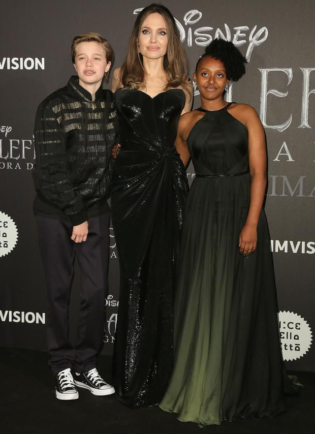 Angelina Jolie's Daughter Zahara, 14, Wears Her Natural Hair at Rome Maleficent Premiere