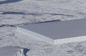 NASA Sea Ice Survey Captures Bizarre, Perfectly Rectangular Iceberg