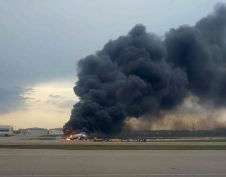 At least 13 killed after Russian passenger plane catches fire mid-air - news agencies