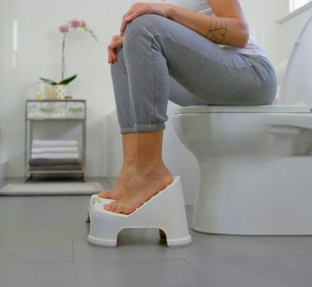 Make your poops easier by elevating your knees and feet