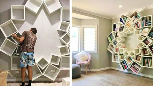Now THAT'S a storage hack! Clever Parents Build Bookcase With Only Boxes