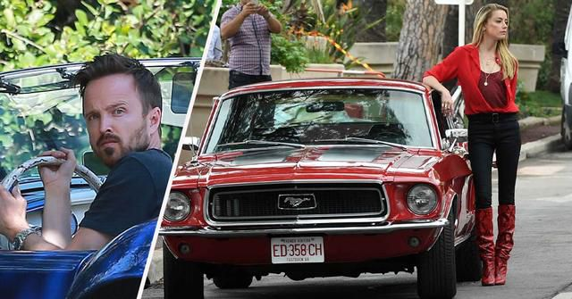 20 Celebrities Spotted Driving Sweet Muscle Cars