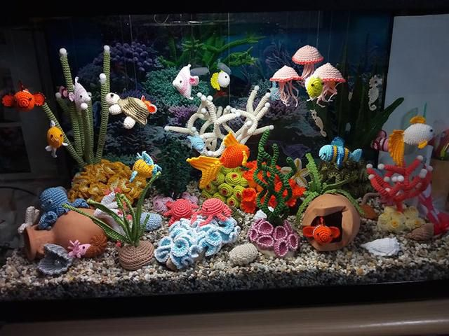 This Beautiful Aquarium Is Actually Made Entirely From Yarn
