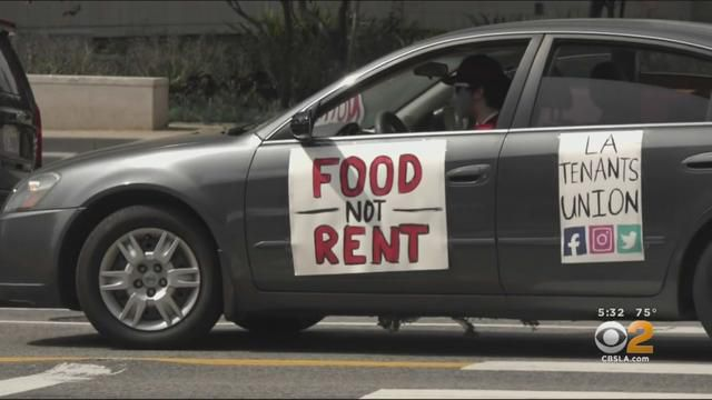 Coronavirus: Tenants Surround LA City Hall Demanding Cancelation Of All Rent, Mortgage Payments