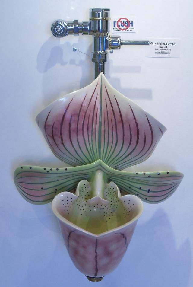 Artist Sculpts Whimsical Nature-Inspired Urinals