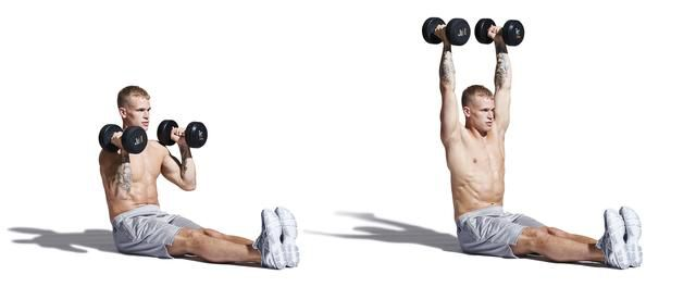 All You Need Is A Pair Of Dumbbells To Pack On Muscle To Your Chest, Triceps & Back At Home