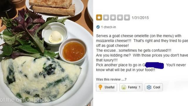Entitled Customer Leaves A One-Star Yelp Review Over Omelet, Gets Exposed By The Chef That Cooked It
