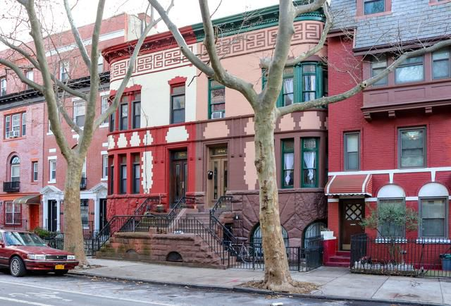 These Unusual Curved Twin Houses in Crown Heights Are Like No Others
