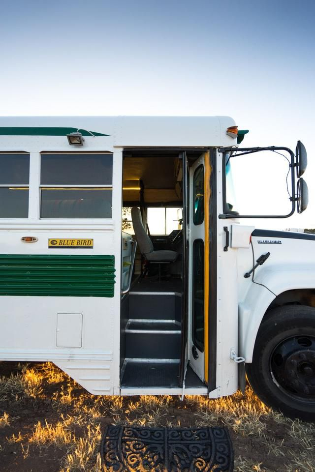 A School Bus Converted Into a Lovely Mobile Home By An Adventurous Couple