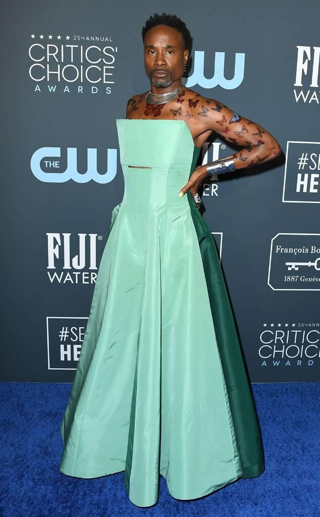 Billy Porter, Lucy Hale and More Stun in Minty Green Outfits at the 2020 Critics' Choice Awards