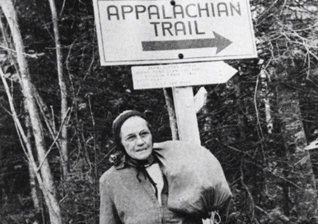 With a Shower Curtain and a Few Pairs of Keds, 67-Year-Old Grandmother Emma Gatewood Becomes the First Woman to Hike the Entire Appalachian Trail