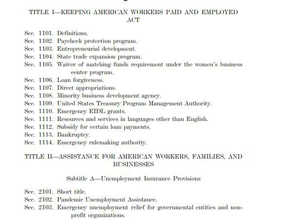 In the fine print of the $2 trillion economic rescue package