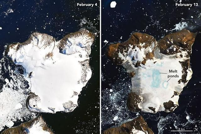 NASA Reveals Startling Images From Antarctica's 'Hottest Days On Record'