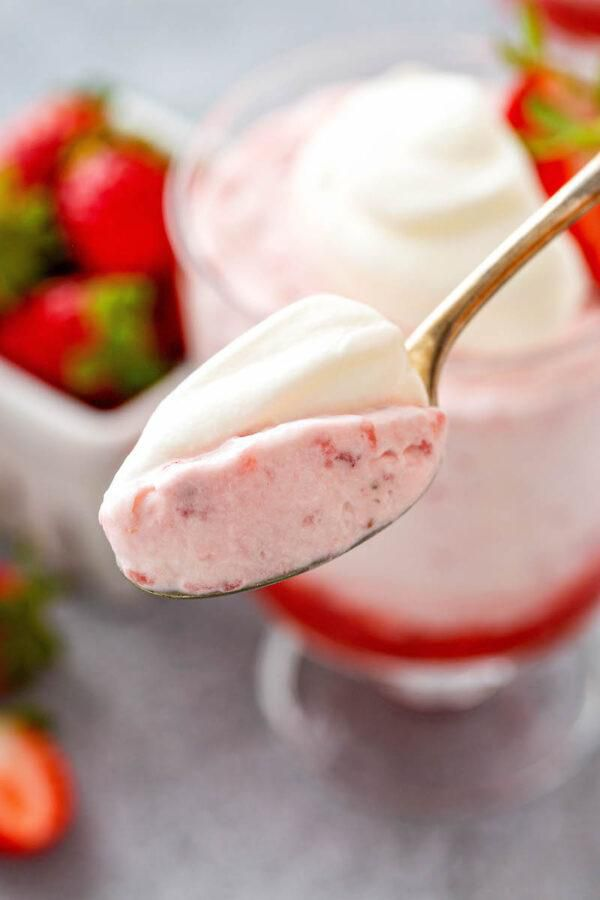 Strawberry Mousse - only 3 ingredients!