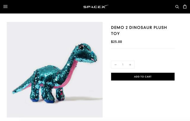 The real star of the SpaceX astronaut launch was a sparkly stuffed dinosaur