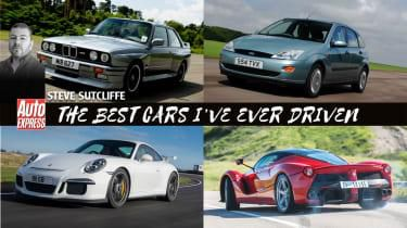 Greatest drives - Ferrari F40, BMW E30 M3, Ford Focus and more