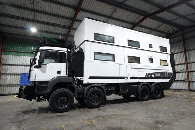 The SLRV Commander Is a Two-Story 8×8 Overlander for the Whole Family