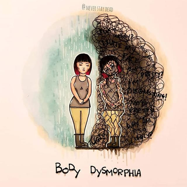 Artists Illustrates Disorders And Mental Illnesses As Monsters