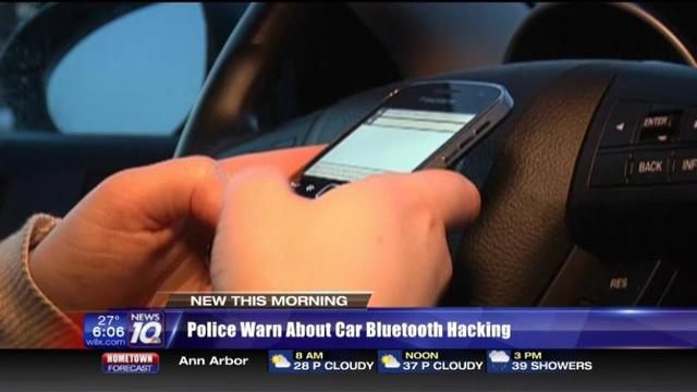 Police warn about car Bluetooth hacking