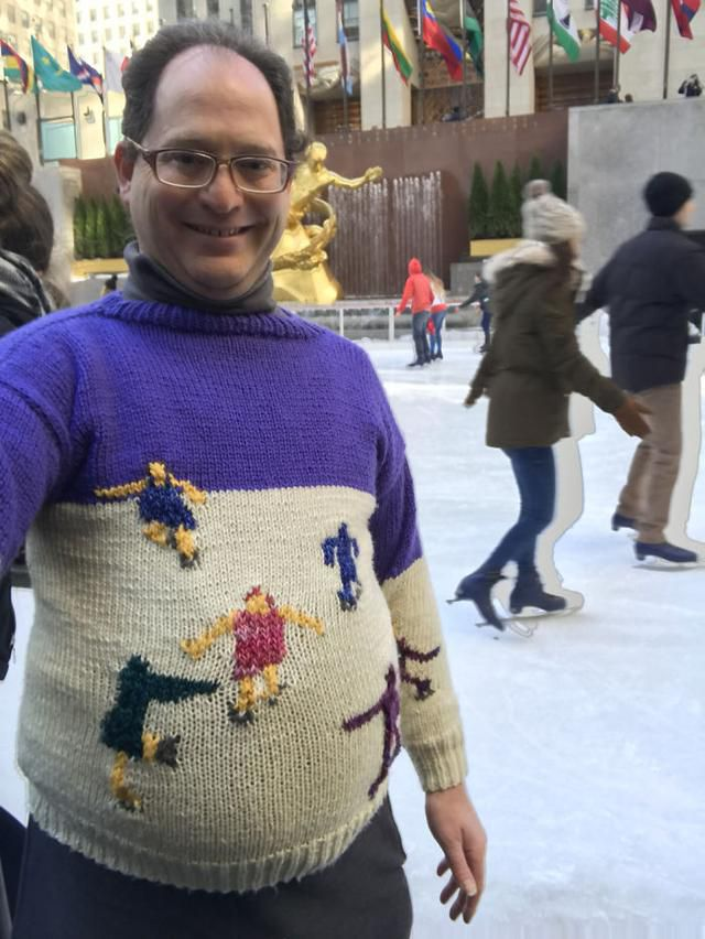 Guy Makes Sweaters Of Places And Then Photographs Himself In Those Places