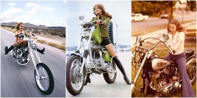 25 Vintage Photos of Badass Women Riding Their Choppers