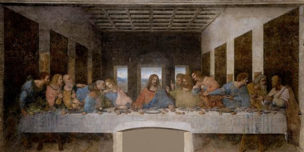 Leonardo's 'The Last Supper' is the second