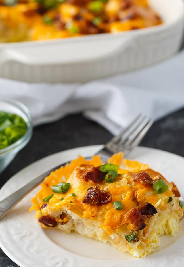 Bacon and Egg Biscuit Casserole