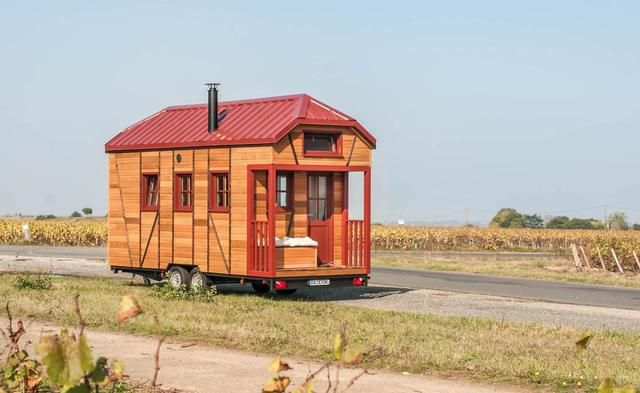 Beautiful Tiny House On Wheels With Half-Timbering