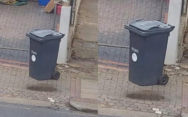 This Floating Bin Optical Illusion Has Officially Melted Everyone's Quarantined Brains