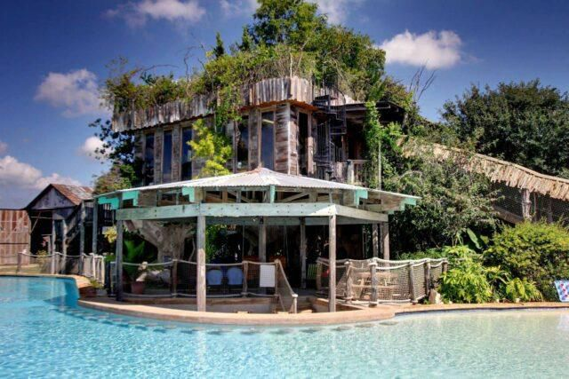 This Airbnb is a poolside tree house in the Texas Hill Country
