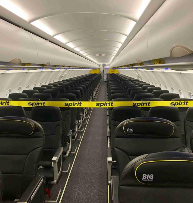 Check out Spirit Airlines' first jet with its new seats and cabin