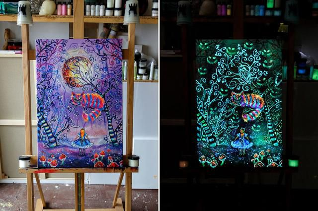 In These Quarantine Times I Create Glow In The Dark Paintings Inspired By Tales And Fantasy