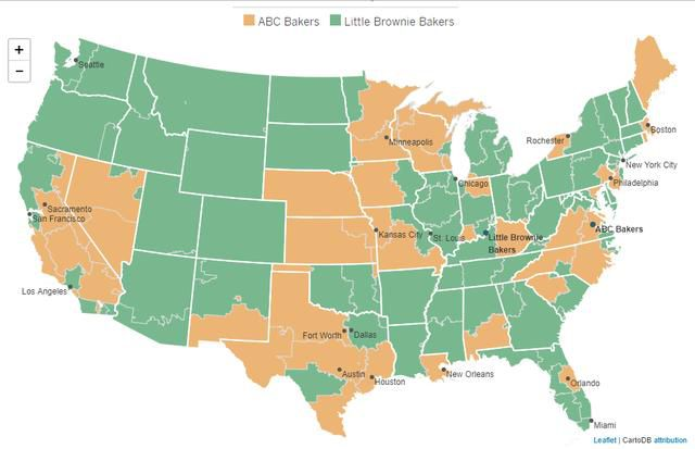 The Map of Girl Scout Cookie Differences Based on Location
