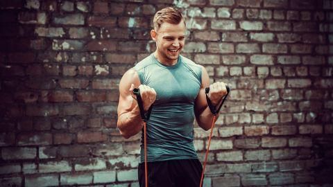 Use This Arm Workout With Resistance Bands To Build Muscle