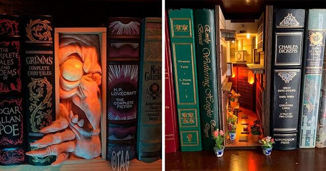 33 Creative Bookshelf Inserts All Bookworms Will Appreciate